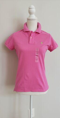 Nuovo con etichette POLO RALPH LAUREN SKINNY POLO da donna maglia maglietta XS//S//M #16