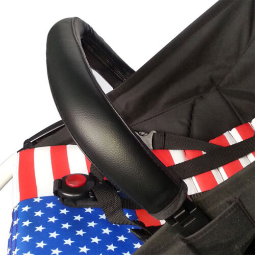 Baby Pram Stroller Armrest Case Handle PU Leather Cover For Toddler Strollers US