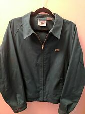 Mens size Large vintage 80's Lacoste jacket teal