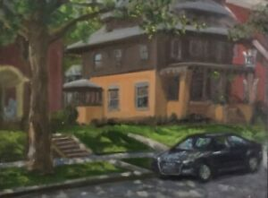 Benjamin Ave. Grand Rapids Original Oil Daily Painting
