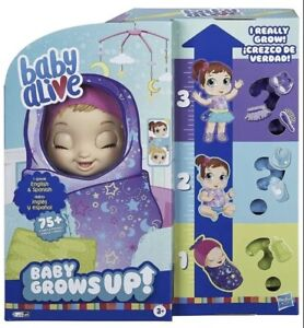 Baby Alive Baby Grows Up Dreamy Shining Skylar or Star Dreamer Growing Doll 2020