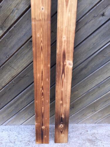rustikal 80cm Brett Bohle alt Weinkiste Apfelkiste Geflammtes Holz Deko