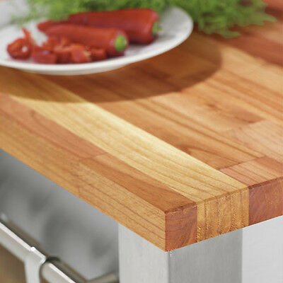Solid European Cherry Kitchen Worktop 2M X 720 X 40mm