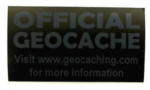 20-x-Cache-stickers-for-Geocaching-gray-print-on-matt-black-sticker