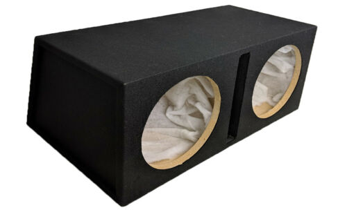 "Twin 12/"" Coche Subwoofer Caja de ranura 12/"" Sub Woofer caja para todos los coches a la venta!!!"