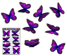 Butterfly Car Stickers Pink Monarch Animal Large Vinyl Decal Pack St028pk3
