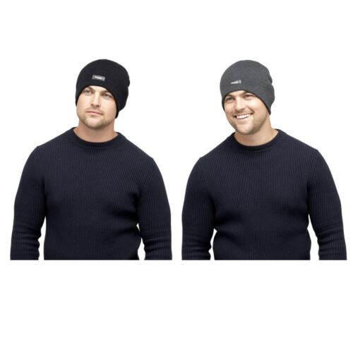 Mens Heatguard Knitted Beanie Hat GL389 with Genuine Thinsulate Lining