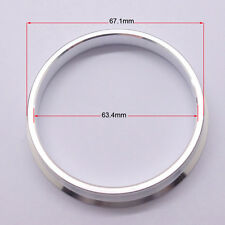 4pcs High Quality Aluminum Alloy Wheel Spacer Hub Centric Rings 67.1OD to 63.4ID