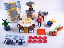 PLAYMOBIL 3968 KITCHEN BLUE/ORANGE MODERN HOUSE -EXTRA CLEAN - 100% COMPLETE