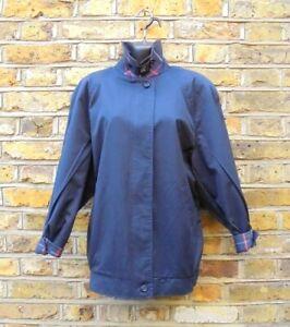 Burberry-London-Bleu-Femme-Bomber-Harrington-Veste-Taille-UK-12-Nova-Check