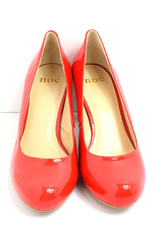 NOE Moyen Talon Moyen Moyen Moyen Femmes PVC Cuir Escarpins Cour Chaussures Rouge 2a35a4