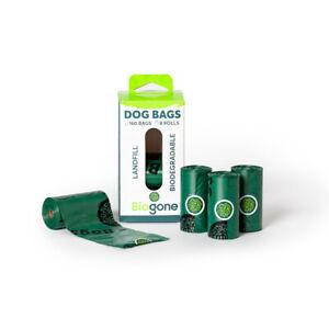 Biodegradable Dog Poo Bag BioGone Portable Refill Rolls   80 or 160 Waste Bags