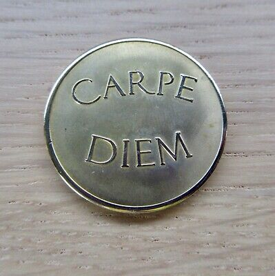 LARGE COIN//MONEDA ONLY FOR GENUINE STERLINA MI MILANO NECKLACE//KEEPER CARPE DIEM