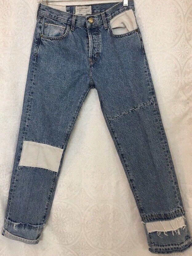 Current Elliott Jeans The Diy Original straight Mohave vintage Patches sz 23 24