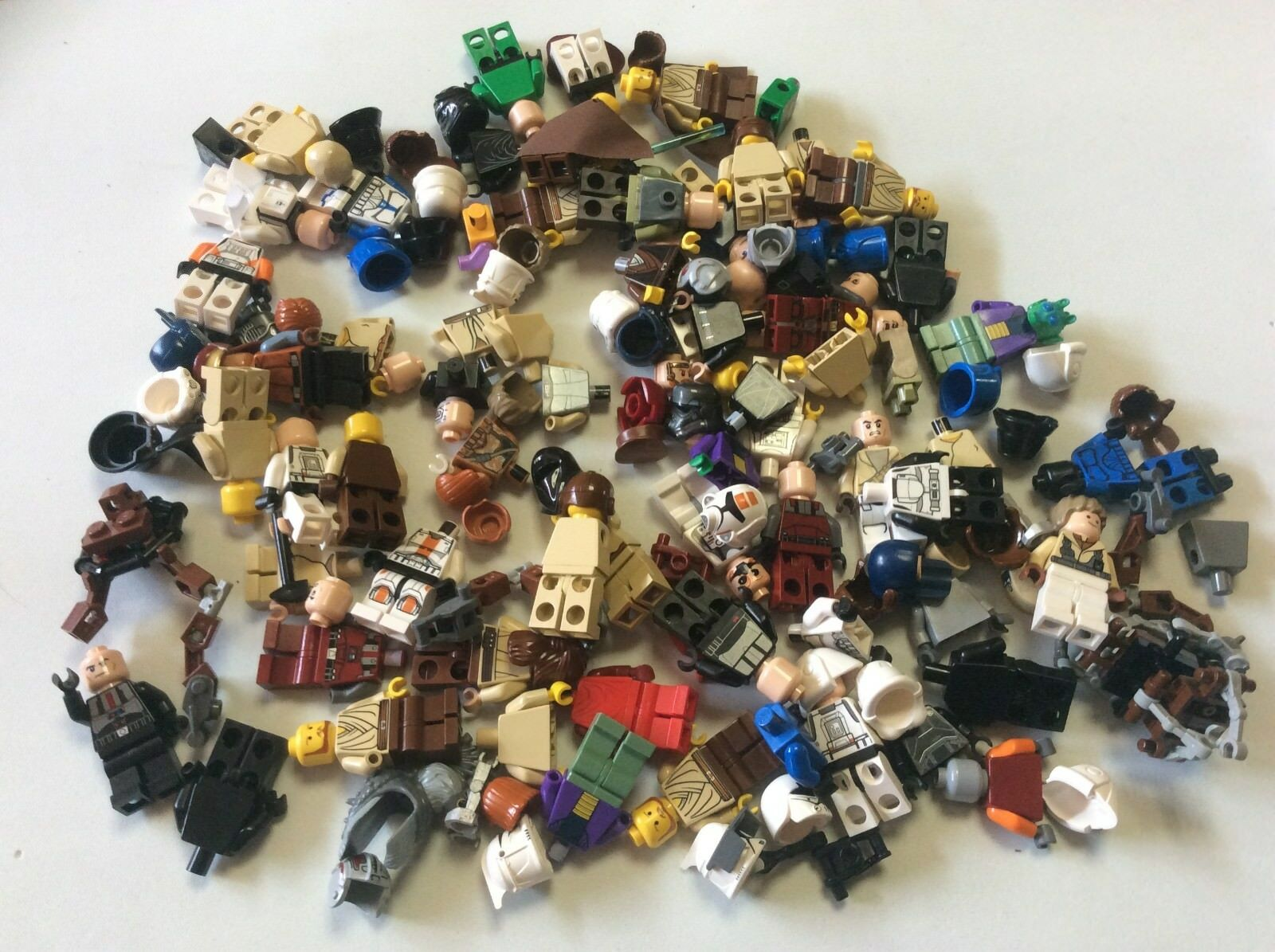 8 Ounces Lego Star Wars Minifig parts 1/2 Pound minifigures Lot X471B