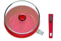 Flavorstone Deep Pan 28cm W/lid Red Blue Grey   Direct From Danoz -full Warranty
