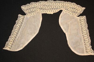Vintage 591ms Nylon Spitze Kragen 35.6cm Länge 33cm Hals Angemessener Preis