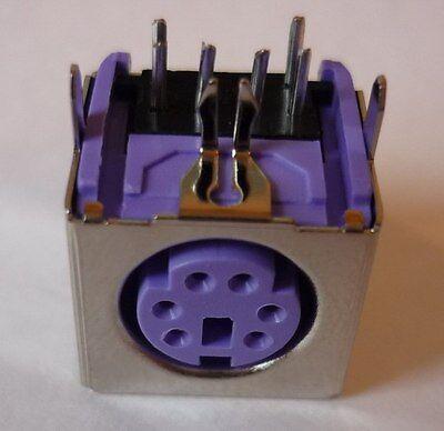 Qualità Al 100% Ps/2 Ps2 Presa Din Montaggio Presa Connettori Montaggio Frizione Lötbuchse Viola-