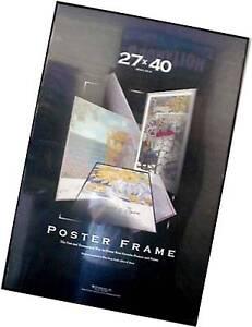 27x40 Movie Poster Frame Black Thin Profile Black Edges Quality