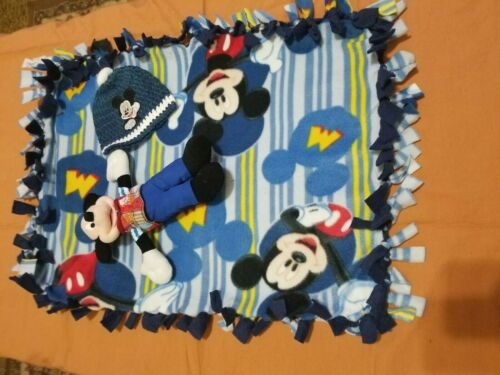 Tied Fleece Blankets With beanie and plush 1 New Baby Blanket #BB011 #BB020