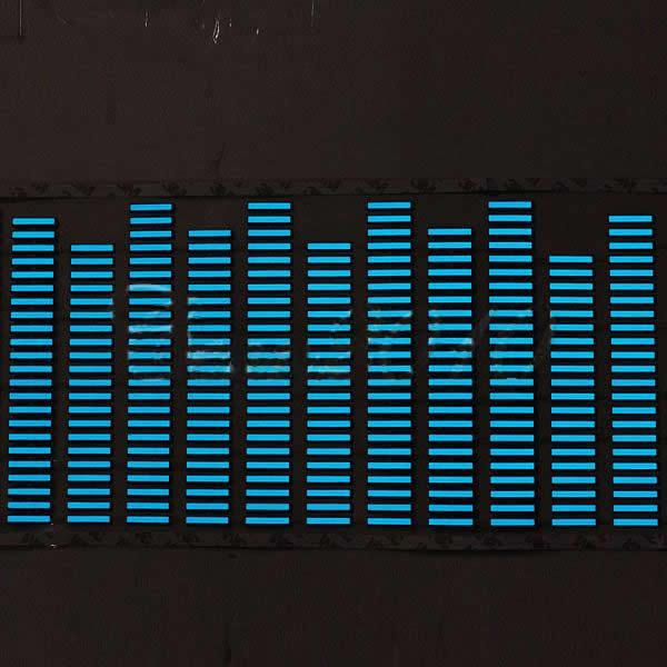 LED Lamp Light Blue Car Music Rhythm Sticker Sound Activated Equalizer 90x25cm