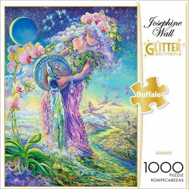 Josephine Wall AQUARIUS Buffalo Glitter Edition 1000 Piece Jigsaw Puzzle NEW!