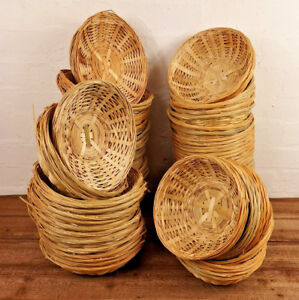 Natural-Bamboo-New-Wicker-Round-Oval-Storage-Display-Hamper-Trays-Bread-Baskets