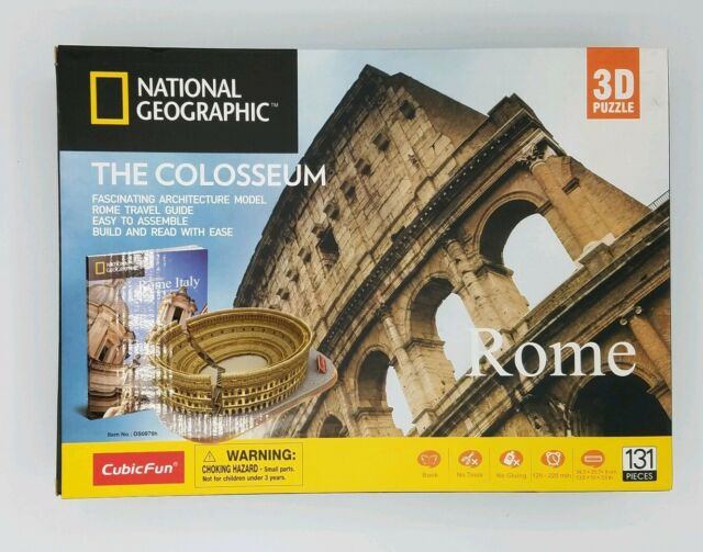 National Geographic 3D Puzzle The Colosseum Architecture Model Kit Ancient Rome