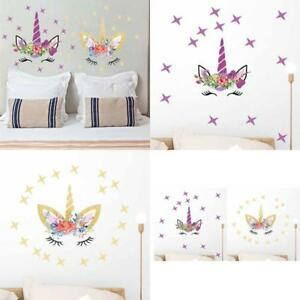 Details about 2 Wall Decals For Living Room Semi Gloss Fairytale Unicorn  Teens Girls Bedroom
