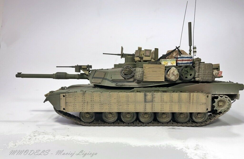 M1A2 Abrams Tusk-Scale 1 35 - built and painted by MMODELS