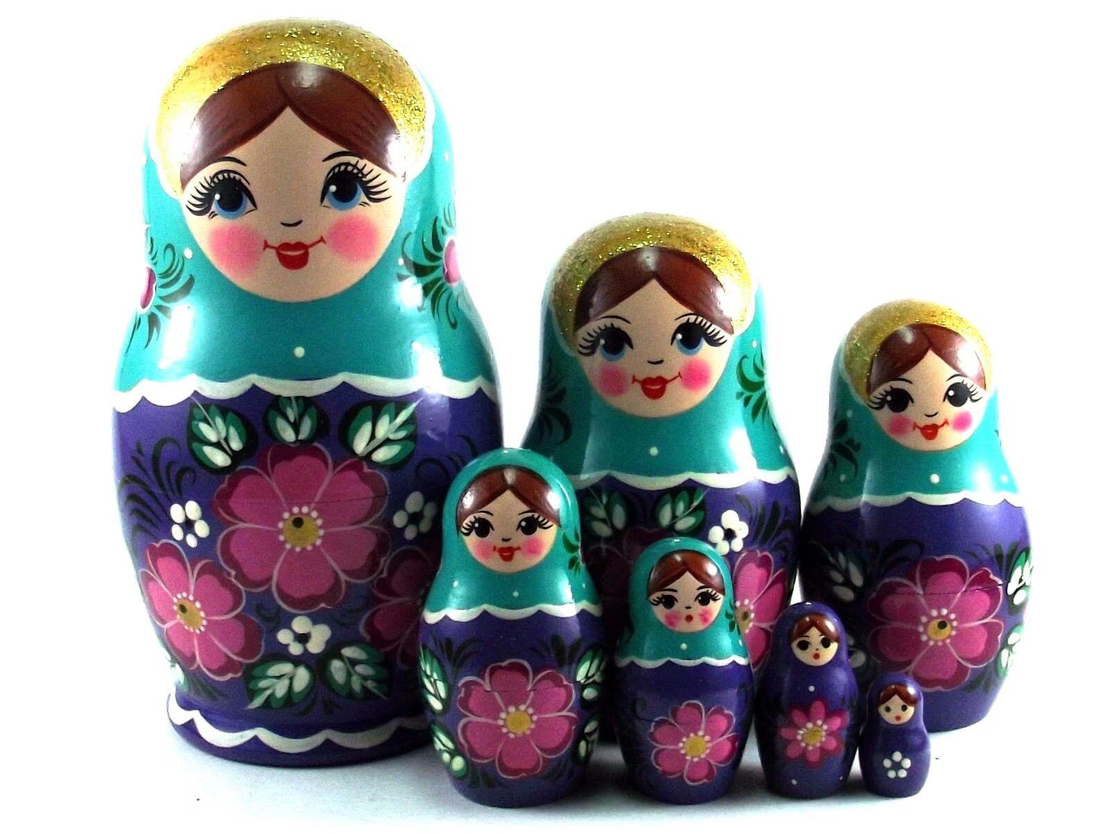 MATRIOSKA BAMBOLA Baautobuschka cioé russa bambole in legno originale 7  pezzi 15 cm  acquista online