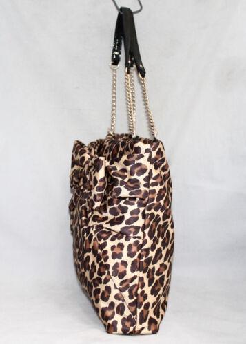 Tote Pxru1758 lazo de leopardo julio Kate Spade Nwt plisado 325 de Ther de nylon de nYqBgtZI