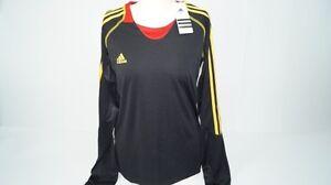 * Nouveau * Adidas Training Shirt Corsage Noir Jaune Rouge Unisexe Taille L Kids New-afficher Le Titre D'origine
