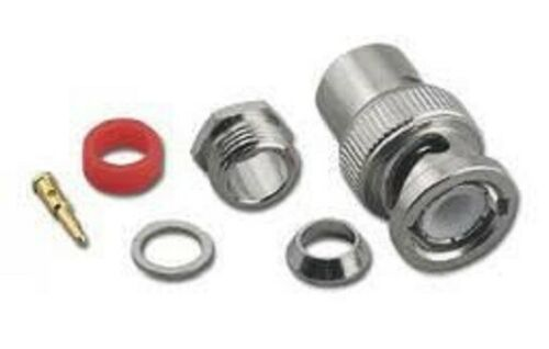 10 x BNC Male Screw on Tool-less Compression Plug for RG58 Coax Cable