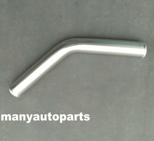 "2.5/"" 63MM 45Degree Aluminum Turbo Intercooler Pipe Tube Tubing L=600MM"