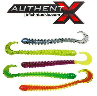 "All Colors B Fish N AuthentX Ringworm 4/"" Walleye Plastics 8-Pack"