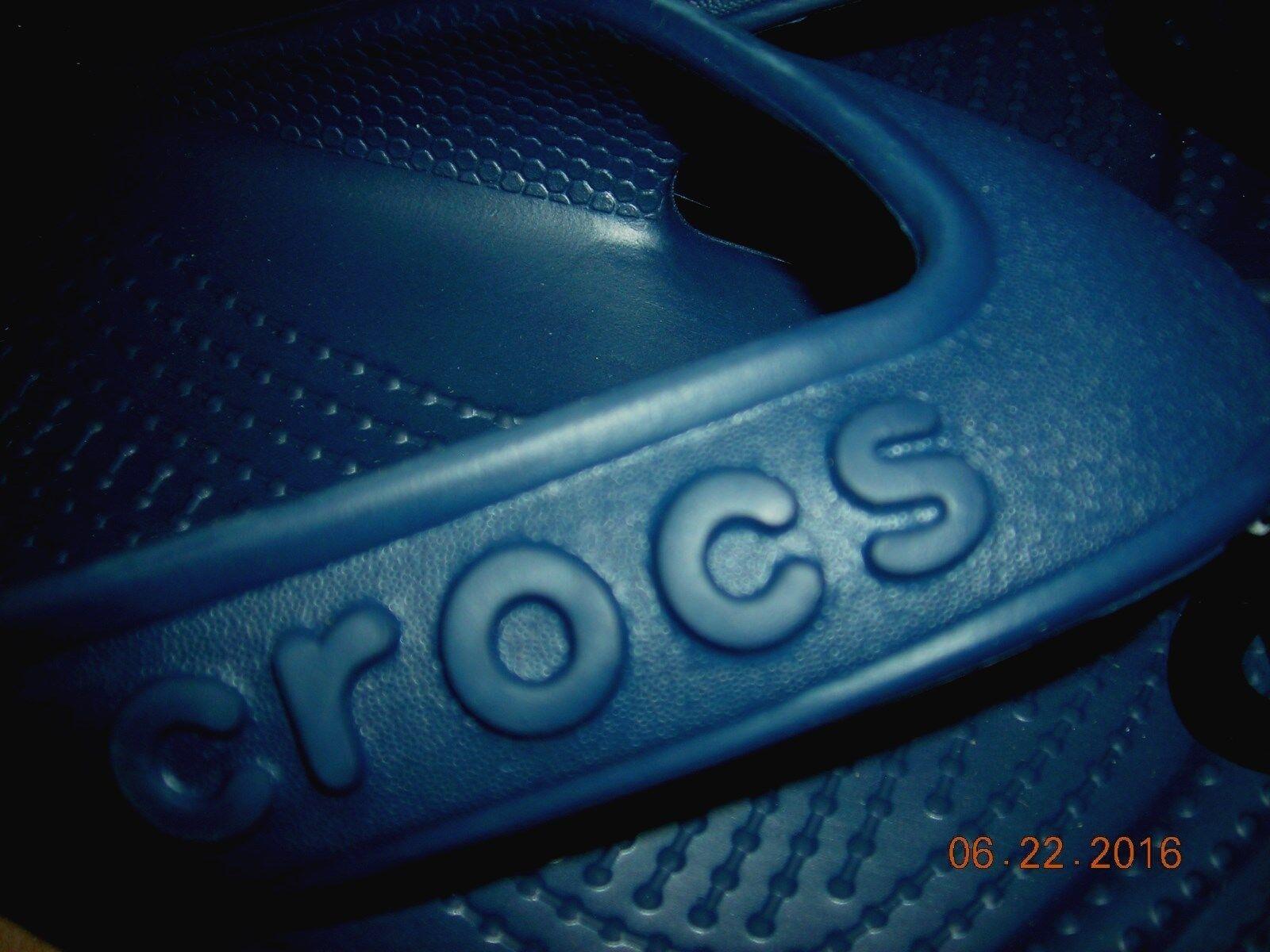Unisex Croc's navy rubber flip flops style hilo