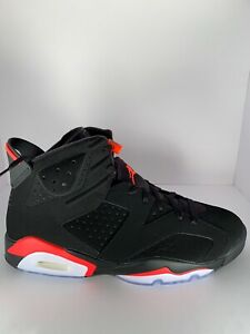 the latest b1906 d96e1 Details about Air Jordan 6 Black Infrared Retro VI Size 12.5 (Brand New W/  Receipt in Box)