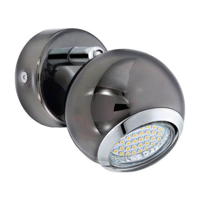 Eglo LED Wandleuchte Bimeda GU10 3W Ø7cm nickel-schwarz