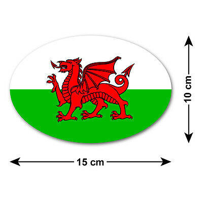 Welsh Dragon Vinyl Sticker SILVER GLOSS 10 x 15cm