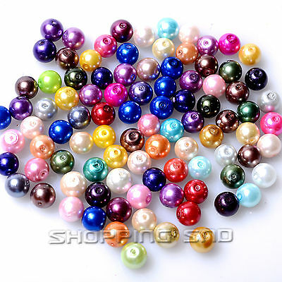 100pcs Mixed Czech Glass Pearl Round Loose Beads 3mm 4mm 6mm 8mm 10mm 12mm 14mm