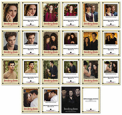 Twilight BREAKING DAWN Part 2 11 Card Masterpieces Canvas Print Set ~ New