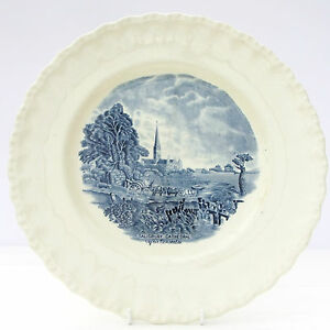Vintage Grindley Scenes After Constable Salisbury Cathedral Blue Dinner Plate - GRIMSBY, United Kingdom - Vintage Grindley Scenes After Constable Salisbury Cathedral Blue Dinner Plate - GRIMSBY, United Kingdom