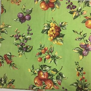 GEORGE-E-BARDWIL-amp-Sons-Vintage-TABLECLOTH-52-034-Sq-Fabric-FRUIT-Pattern