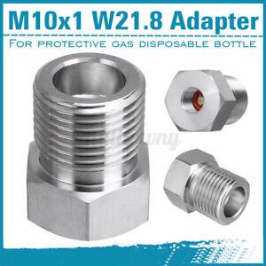 1X CO2 Adapter Für Druckminderer von Mehrweg auf Einwegflasche M10x1