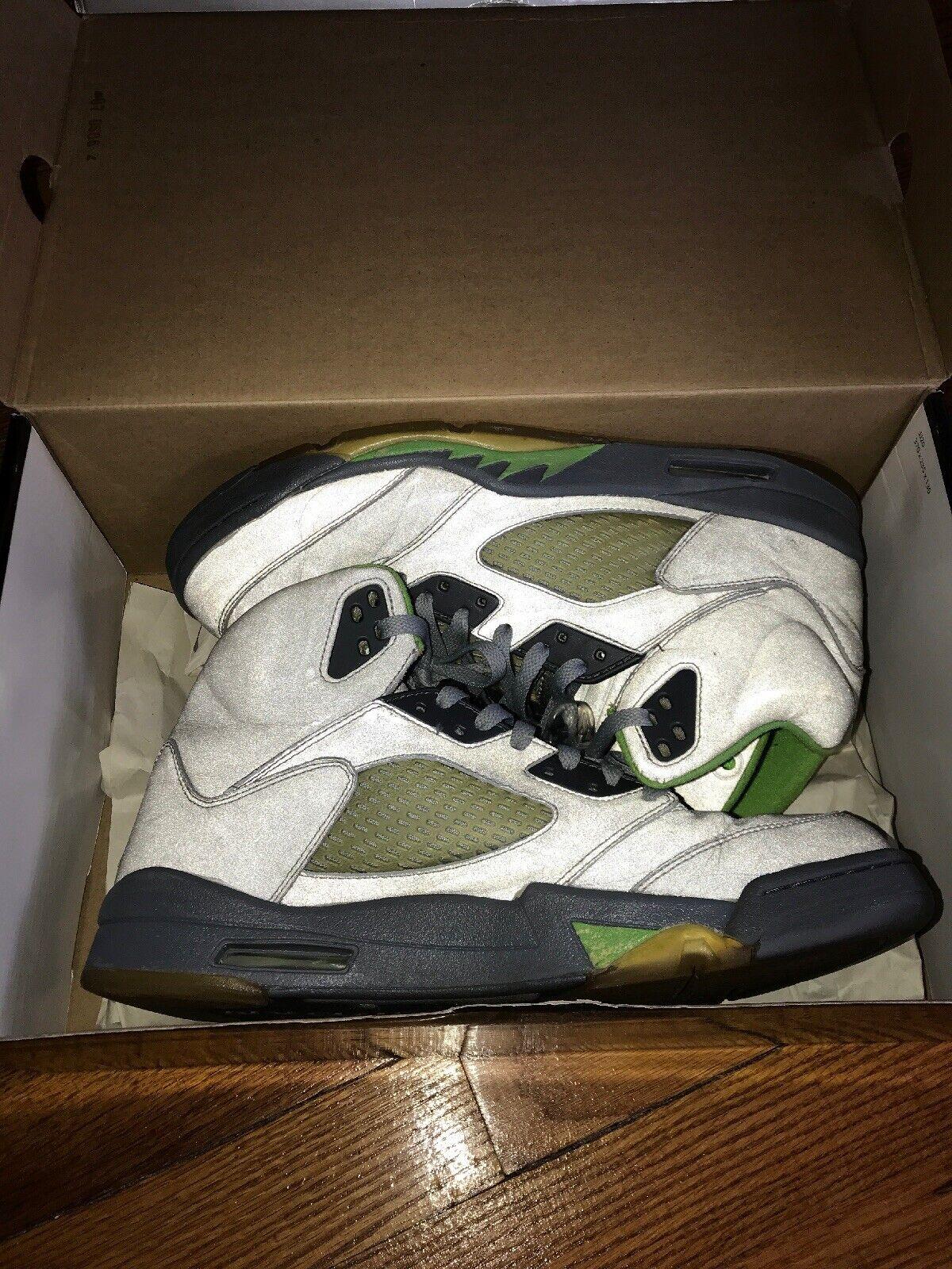 Nike Air Jordan 5 V Green Bean Retro (2006) - sz 11.5