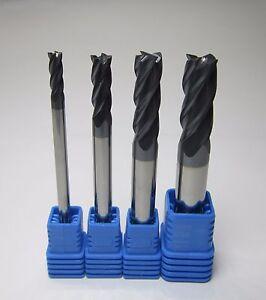 5PCS Ø 4mm HRC45  2 flutes Tungsten Carbide End Mill milling cutter CNC machine