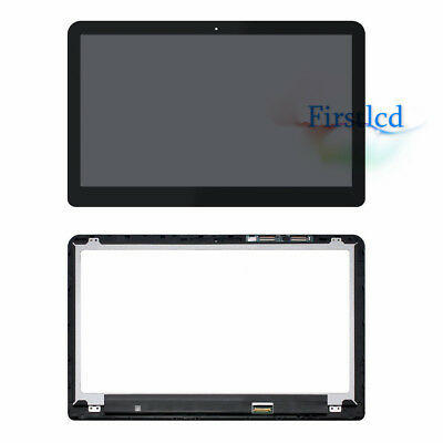 TouchScreen Digitizer Front Glass Panel+Bezel For HP ENVY X360 15t-w000 15t-w200