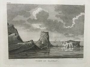 1772-Antique-Print-Canna-Island-and-Coroghon-Hebrides-after-Moses-Griffith