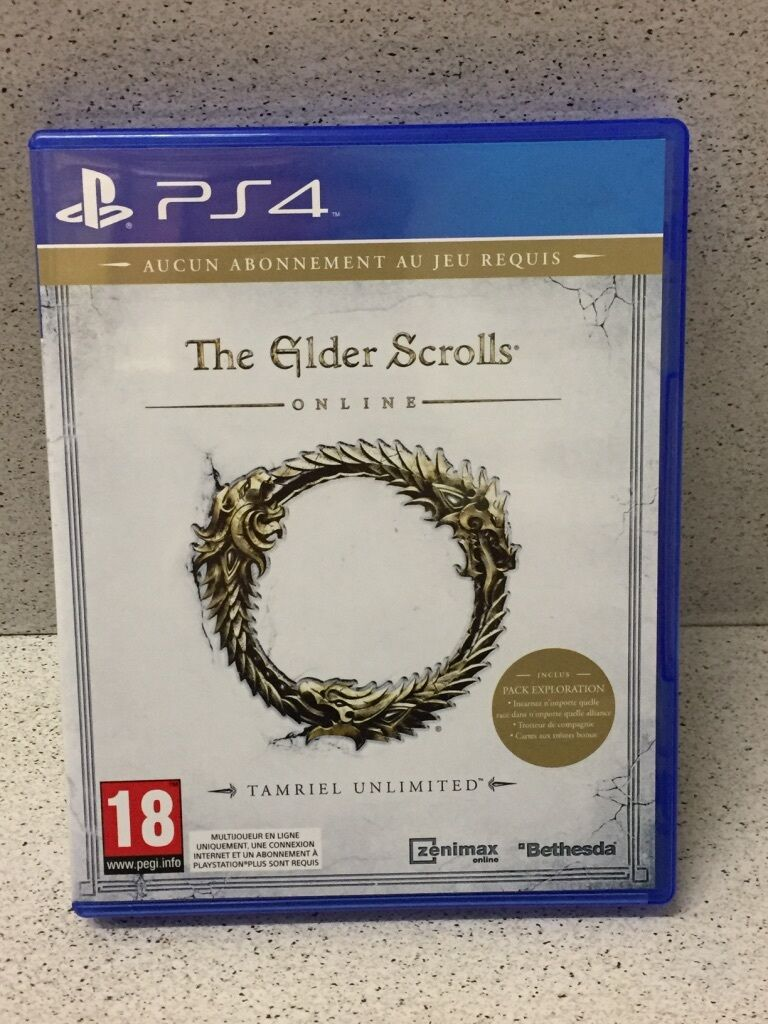 JEUX PS4 THE ELDER SCROLLS  SANS NOTICE